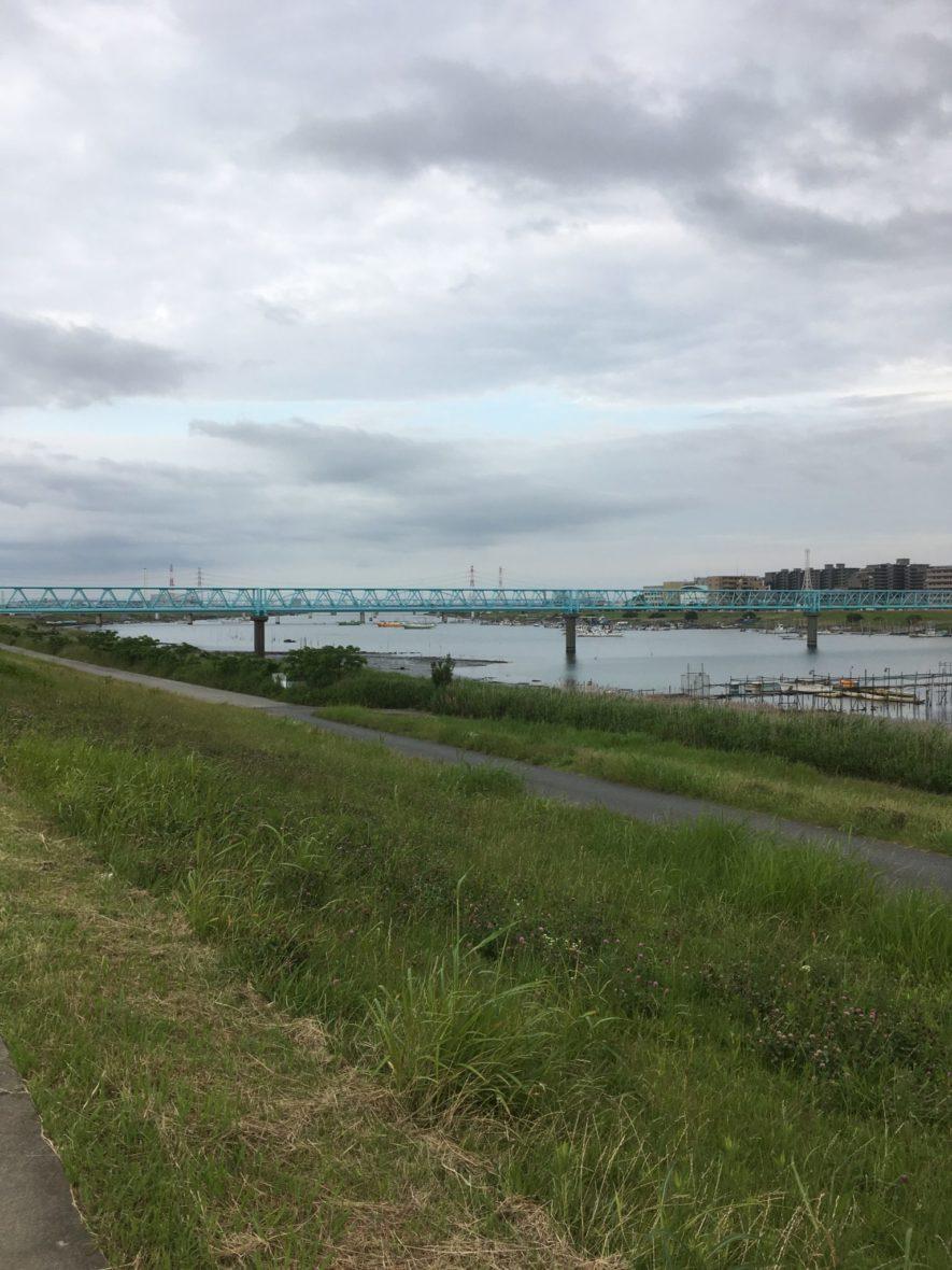 江戸川のランニングコース