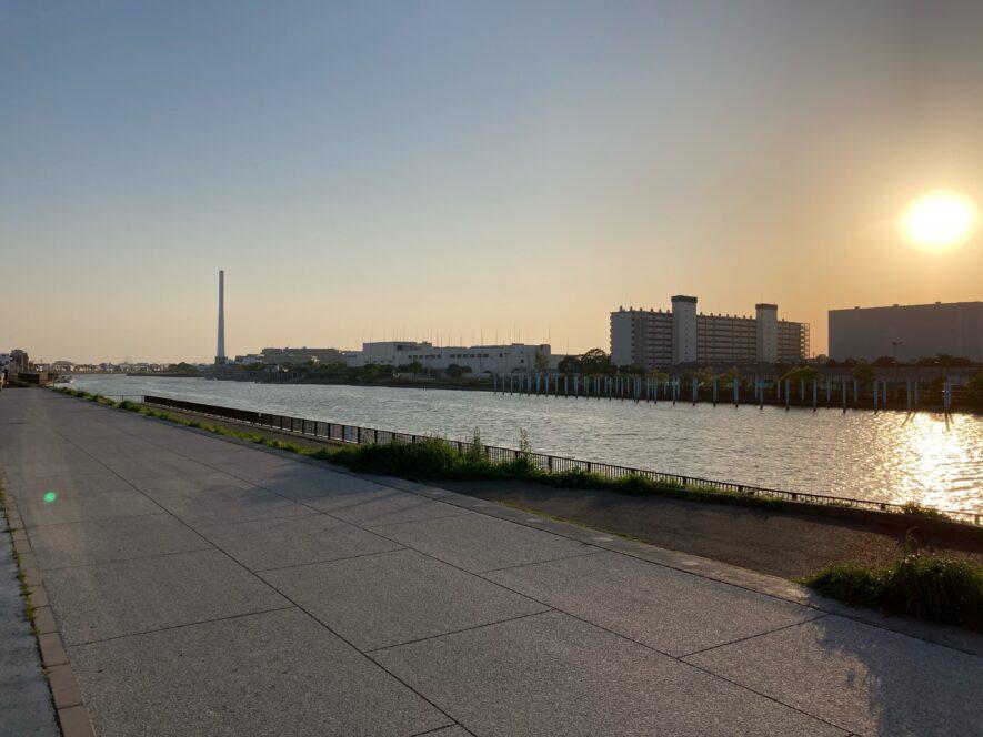 旧江戸川のランニングコース