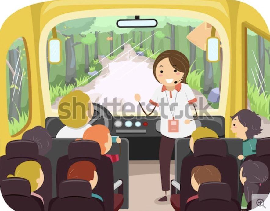 添乗員バス